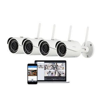 Oco Pro Bullet 1080p Cloud Surveillance Camera with Remote Viewing (4-Pack)