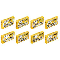 BIC Chrome Platinum Double Edge Safety Razor Blades, 40 Count + FREE Assorted Purse Kit/Cosmetic Bag Bonus Gift