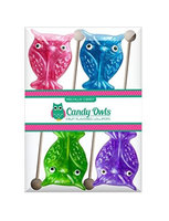 Melville Candy Company Glitter Owl Candy Large Lollipops Boxed Gift Set