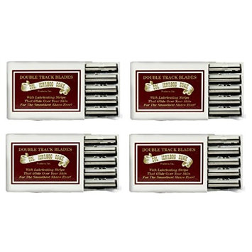 Colonel Ichabod Conk Trac II Razor Blades 10 ct. (Pack of 4) + FREE Travel Toothbrush, Color May Vary