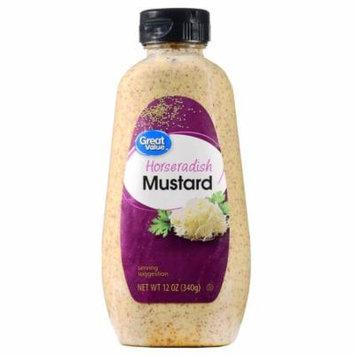 (4 Pack) Great Value Horseradish Mustard, 12 oz