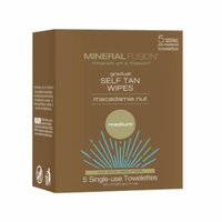 Mineral Fusion Gradual Self Tan Wipes Macadamia Nut Medium 5 Towels