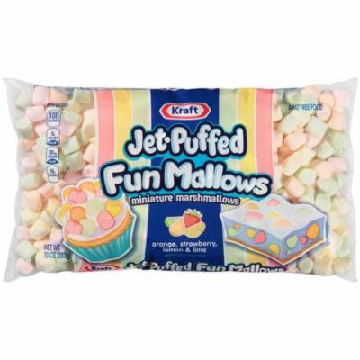 (5 Pack) Kraft Jet- Puffed FunMallows Colored Miniature Marshmallows, 10 oz Wrapper