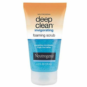 Neutrogena Deep Clean Invigorating Foaming Scrub 4.2 Oz (3 Pack)