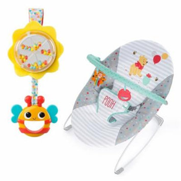 Honey Pot & Beehive Baby Bouncer and Toy Bundle