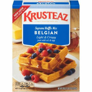 (6 Pack) Krusteaz Light & Crispy Belgian Supreme Waffle Mix, 28-Ounce Box