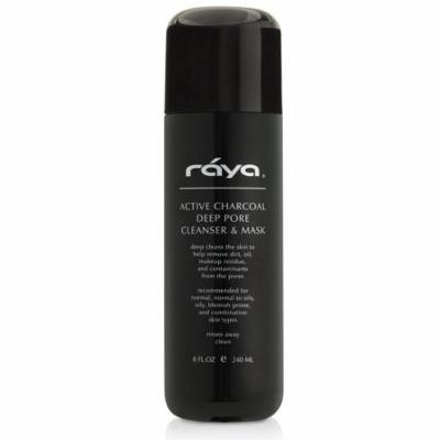 Active Charcoal Deep Pore Cleanser & Mask 8 oz (121) | RAYA