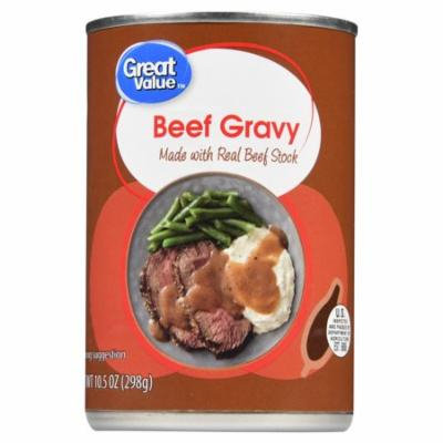 (3 Pack) Great Value Beef Gravy, 10.5 oz