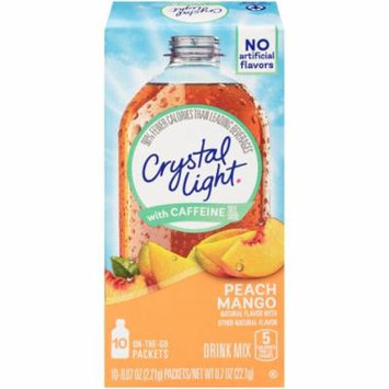 (60 Pack) Crystal Light On-The-Go Sugar-Free Powdered Peach Mango Drink Mix, 6 - 0.7 oz Boxes