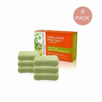 Natural Solutions Natural Solution Himalayan Pink Salt Green Tea & Olive Oil 5.2-ounce Soap (Bar of 6)
