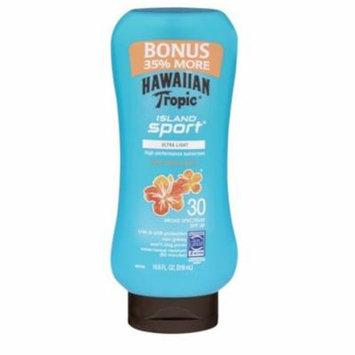 Hawaiian Tropic Island Sport Lotion SPF 30 Light Tropical Scent 10.8oz Ea