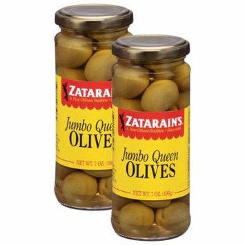 (2 Pack) Zatarain's Jumbo Queen Olives, 7 oz
