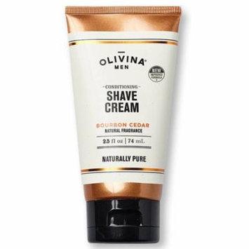 Olivina Conditioning Shave Cream Bourbon Cedar 2.5oz