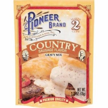 (4 Pack) Pioneer Brand Gravy Mix, Country Sausage, 2.75 Oz