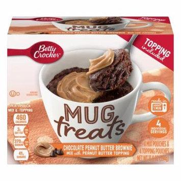 (6 Pack) Betty Crocker Mug Treats Chocolate Peanut Butter Brownie 13.9 oz Box