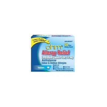 Loratadine usp 10 mg antihistamine allergy relief tablets by OHM - 500 ea