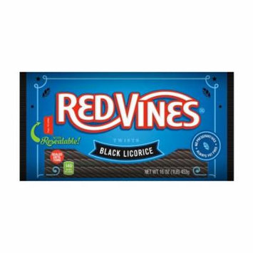 Red Vines Black Licorice Twists (Pack of 18)