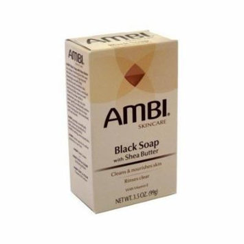 Ambi Cleansing Bar Soap Black With Shea Butter 3.5oz each