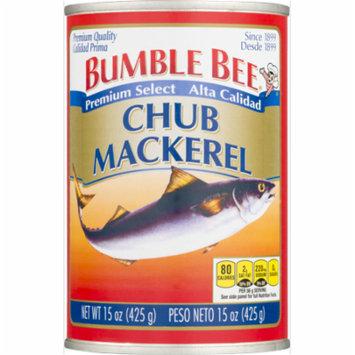(3 Pack) Bumble Bee Premium Select Chub Mackerel, 15 oz Can