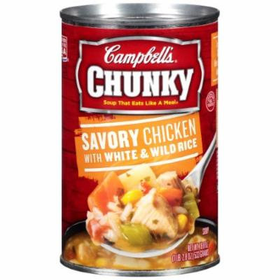Campbell's Chunky Savory Chicken with White & Wild Rice Soup (Pack of 6)