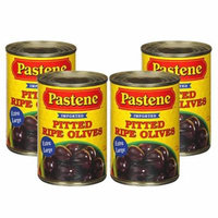 (4 Pack) The Pastene Pastene Pitted Ripe Olives, 6 oz