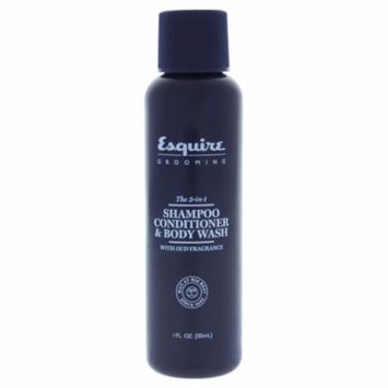 Esquire Grooming 1 Shampoo and Conditioner and Body Wash For Men