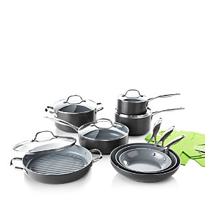 GreenPan Valencia Pro 13-Piece Cookware Set + Bonus - 100% Exclusive