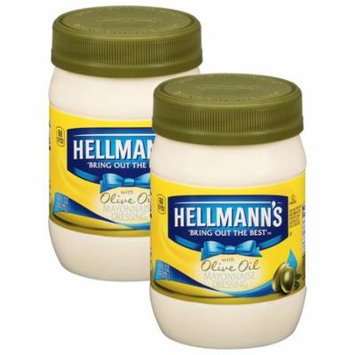 (2 Pack) Hellmann's with Olive Oil Mayonnaise Dressing, 15 oz
