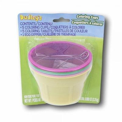 Dudleys Easter Egg Dying Coloring Cups with Dye Tablets - 5 Ct