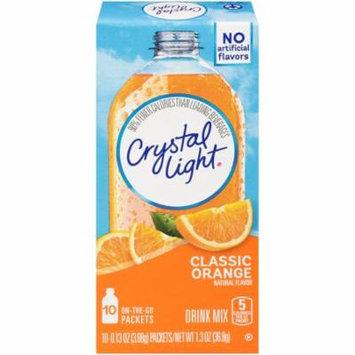 (60 Pack) Crystal Light On-the-Go Classic Orange Drink Mix, 10 - 0.13 oz Box