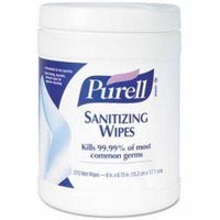 6 Pack - Purell Sanitizing Skin Wipe Purell Canister Benzalkonium Chloride Citrus Scent 270 Count