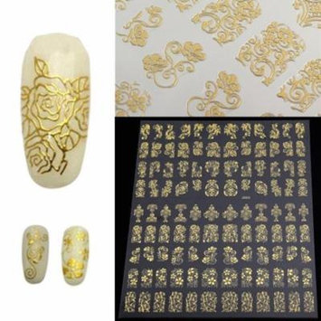 12 Sheets Luxury Flower Nail Art Sticker Women Manicure Nail Tip DIY Decoration