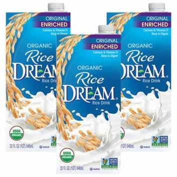 (3 Pack) RICE DREAM Enriched Original Organic Rice Drink, 32 fl. oz.