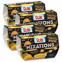 (4 Pack) Dole Fruit Bowls, Mixations Pineapple Mango, 4 Ounce (4 Cups)