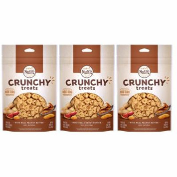 (3 Pack) NUTRO Crunchy Halloween Dog Treats with Real Peanut Butter, 10 oz. Bag