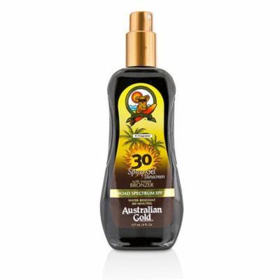 Spray Gel Sunscreen Broad Spectrum SPF 30 with Instant Bronzer-237ml/8oz