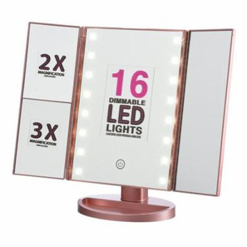 Onyx Professional Vanity Mirror with Dimmable LED Lights, Pink