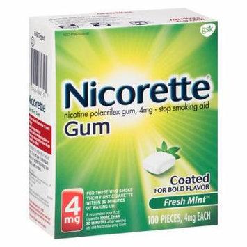 Nicorette Nicotine Gum, 4mg Fresh Mint 100.0 ea(pack of 2)