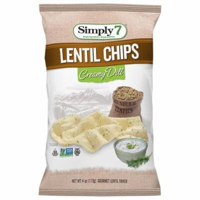 Simply7 Lentil Chips Creamy Dill, 4 Ounce (6 Pack)