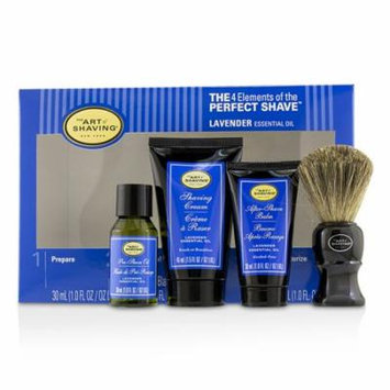 The 4 Elements of the Perfect Shave Mid-Size Kit - Lavender-4pcs