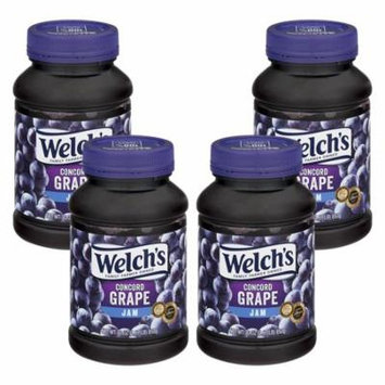 (4 Pack) Welch's Concord Grape Jam, 30 oz Jar