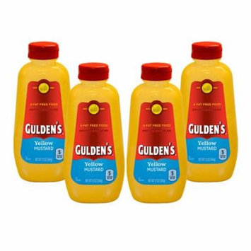 (4 Pack) Gulden's Yellow Mustard, 12 oz.
