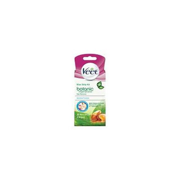 Veet Ready-To-Use Wax Strip Hair Remover Kit Sensitive Formula 20 Count Each