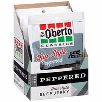 Oh Boy! Oberto Classics Peppered Thin Style Beef Jerky, 1.2 Ounce (Pack of 16)