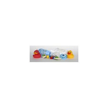 Framed Art For Your Wall Ducks Pacifier Baby Bottle Diapers Toys 10x13 Frame