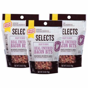 (3 Pack) Oscar Mayer Select Bacon Bits, 2.8 oz Pouch