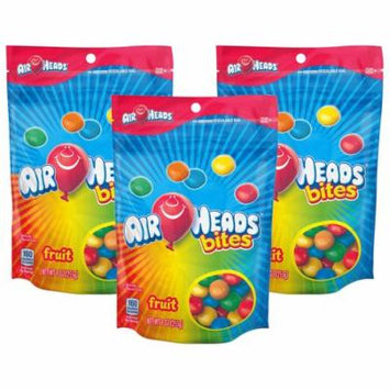 (3 Pack) Airheads, Fruit Bites Chewy Candy Bar, 9 Oz