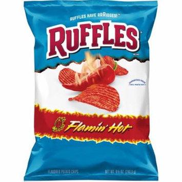 (3 Pack) Ruffles Flamin' Hot Potato Chips, 8.5 oz Bag