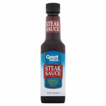 (2 Pack) Great Value Steak Sauce, 15 oz