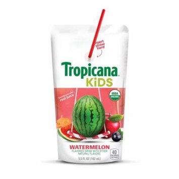 (4 Pack) Tropicana Kids Organic Juice Drink Pouch, Watermelon, 5.5 oz Pouches, 8 Count